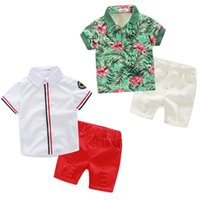 Wholesale Cool Baby Gentleman - Baby Boutique Clothes Gentleman Kid Boys Clothing Set Boys Cool Shirt+shorts 2 Style Summer Toddler Outfit Tracksuit Boys Jersey New Arrival