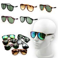 Wholesale Arrow Glass Lens - BAUS PK sunglasses persol 714 649 folding sunglasses acetate glass lenses arrow pilot shape sunglasses