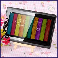 tabletas linternas al por mayor-Q8 7 pulgadas A33 8GB Quad Core Tablet Allwinner Android 4.4 KitKat Capacitivo 1.5GHz 512MB RAM 8GB ROM WIFI Linterna de cámara dual Q88 MQ50