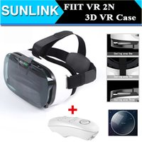 Wholesale Bluetooth Parking - Hot FIIT VR 2N Google cardboard Version Virtual Reality 3D HD VR Glasses vr park+white Bluetooth Mouse gamepad