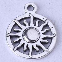 pingentes de sol de liga de zinco venda por atacado-Dom anel pingente antigo de prata / bronze pingente fit colar de jóias DIY liga de zinco 300 pçs / lote 60z