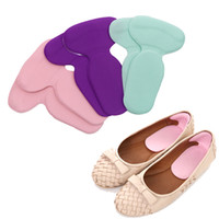 ingrosso strumenti per la cura del piede-Cuscinetti per tallone a forma di T Cuscino antiscivolo Protezione del tallone del piede Fodera Gel in silicone Soletta tacco alto per strumento di cura dei piedi