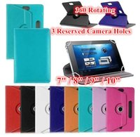Universal 360 Rotating Adjustable PU Leather Stand Case para 8 9 10 10.1 10.2 polegadas Tablet PC iPad ASUS Lenovo Samsung