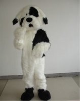 Wholesale Deluxe Mascot - Deluxe Plush Dog Mascot Costume Adult Size Dog Fancy Dress For Halloween Party