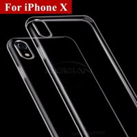 Wholesale Soft Gel Iphone Cases - For iPhone 6 7 8 S8 plus X Samsung S7 0.5MM Crystal Gel Case for iPhone 6s Plus Ultra-Thin transparent Soft TPU Clear Cases