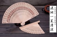 Wholesale small chinese fans - .Bridal Wedding Fans Chinese Wooden Fans Bridal Accessories Handmade 8'' Fancy Cheap Wedding Favours Small Gifts for Guests Ladies Hand Fans