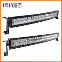 Wholesale Tractor 4wd - LED Car light 4D 5D 32 inch 300W Curved LED Work Light Bar for Tractor Boat OffRoad 4WD 4x4 Truck SUV ATV Combo Beam 12V 24v