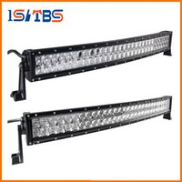 LED Car light 4D 5D 32 polegadas 300W Curved LED Work Light Bar para Tractor Boat OffRoad 4WD 4x4 Truck SUV ATV Combo Beam 12V 24v
