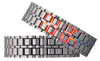 montres à led de lave achat en gros de-Lava LED montre personnalité LED lumière couples bracelet montre version coréenne de la nouvelle mode créative chaîne montre à la main