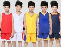 Wholesale Coloured Suits - Kids Warriors Team No. 30 Curry Basketball Dress Set Kids Competition Training Appearances Jerseys basketball suit Golden State Los Angeles