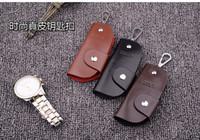 araba anahtarları için deri çantalar toptan satış-2016 Sıcak Satış Kadınlar / Erkekler için PU Deri Anahtar Tutucu Durumda Cüzdan Kahya Tuşları Organizatör Yöneticisi Anahtar Çanta Çanta için Araba Anahtarı
