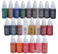 Wholesale Permanent Make Up Pigments - 23pcs biotouch tattoo ink sets pigment permanent make up 15ml cosmetic color tattoo ink for eyebrow eyeliner lip