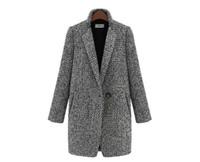 ems kıyafeti toptan satış-Yeni kadın Giyim yüksek dereceli kumaş kalınlaşma uzun kollu palto ahlak yetiştirmek Sonbahar kış Toz kat giysi hediye ems ücretsiz