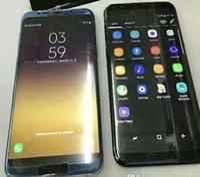 Wholesale Gps Tv 3d - Real fingerprint Goophone S8 s7 5.5 inch 3d curve edge Android 7.0 SmartPhone Octa Quad Core WIFI GPS Google play Metal frame Sealedbox