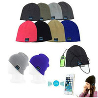 Wholesale Shipping Fashion Speakers - Best chrismas gift bluetooth music hat soft warm Beanie cap hat with stero headphoen headset speaker wireless micophone free shipping
