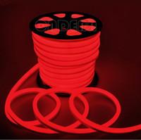 rollo de alambre led al por mayor-Luz de neón flexible de 10 m / rollo 110 V 220 V LED 2 cables con color rojo / azul / verde / RGB / blanco / amarillo 80led / m Envío gratuito