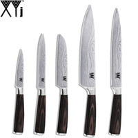 Canada XYj Practical 7Cr17 Stainless Steel Kitchen Knife Set Double Steel  Head Beauty Veins Cooking Tool