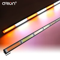 34,5 '' 108W COB LED Traffic Light Bar Signalisation d'urgence Strobe AmberWhite Rouge Bleu 12 / 24V