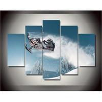 marcos digitales rosa al por mayor-Impresiones de la lona Ski Doo Freeride Pintura Arte de la pared Decoración del hogar Cartel de la lona Sin marco Envío gratis
