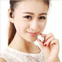 conector mini bluetooth al por mayor-Mini auricular bluetooth inalámbrico en el auricular del oído auriculares auriculares con micrófono para iphone con conectores de USD envío gratis