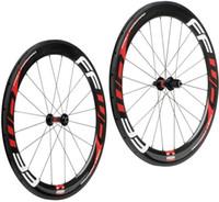 Wholesale Bike Carbon Wheels Sale - Hot sale FFWD carbon wheels 60mm wheelset straight pull Powerway R36 carbon hubs full carbon road bicycle bike wheels