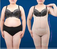 Wholesale Magic Zip - Wholesale-Full Body Slimming Braless Underbust Straps Zip Control Tummy Slimmer Waist Cincher Women Bodysuits Shaper Magic