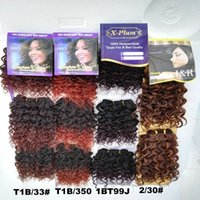 Wholesale Mixed Blend Weaves - 3PCS Darling Charme Jerry Short Curl Hair Cabelo Blended Hair Extension Braids 6Inch Hair Weaving
