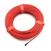 Wholesale Wholesale Floor Heating Systems - Wholesale-20 m 12 k 33 ohm Infrared Heating Floor heating Cable system 2.0mm PTFE carbon fiber wire Electric floor hotline Thickening FF46