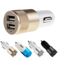 Wholesale wireless usb port adapter online - Dual USB Ports Car Chargers Universal Adapter For iPhone SE S PLUS Samsung S6 S7 Retail Package