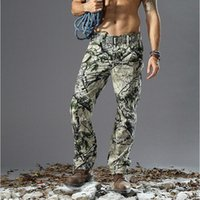 Wholesale Hunting Pants For Men - 2017 Men's Military Snake Camouflage Tactical Pants Grain Printing Trousers for Outdoor Army Hunting
