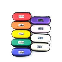 Wholesale E Cig Ego Logo Kit - Electronic cigarette Ego Zipper Case for E Cigarette Bag Large Middel Small Size with Ego Logo Colorful Carry Case for E-cig Kits