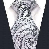 gravata de seda cinzenta venda por atacado-S7 Paisley Floral Branco Cinza Claro Cinza Prata Preto Extra Longo Tamanho Moda Mens Gravata Gravata 100% De Seda