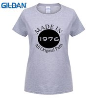 Women's Made in 1976 40th Compleanno Party Cool short sleeve T Shirt bianco carino