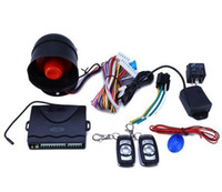 Wholesale Quality Car Alarms - High Quality 12V Car Alarm System One Way Vehicle Burglar Alarm Security Protection System with 2 Remote Control Auto Burglar
