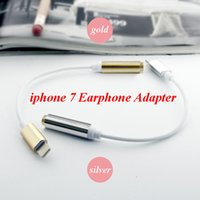 Wholesale Iphone Adapter Long - 10pcs Sell iPhone 7 plus earphone Adapter Data Cable Adapter Cords 3.5mm Female 15cm long To Lighting Male Headset high quality
