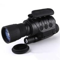 monoküler kameralar toptan satış-Profesyonel 6x50 Kızılötesi Gece Görüş Dijital Video Gözlüğü yok termal Teleskop Kamera NV760D + TDN IR 6x Zoom HD Avcılık Monoküler