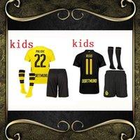 Wholesale Dortmund Jerseys - best quality 17 18 Dortmund kids soccer jersey kits 2017 2018 AUBAMEYANG GOTZE MOR KAGAWA REUS SAHIN Children football jerseys