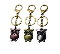 Wholesale One Piece Pendant - Japan cartoon Movie One Piece key rings owl key chains pendant car keyring bag accessory cool gifts