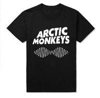 Wholesale Rolling Monkey - Arctic Monkeys Sound Wave Men T Shirts Indie Rock and Roll Hip Hop Cotton Casual Crossfit Man T-shirt Plus Size Camisetas MTT024