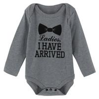 Wholesale Baby Jumpsuit Gentlemen - Baby Boys Funny Gentleman Babygrow Bodysuit Tuxedo Playsuit Jumpsuit 0-12M