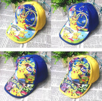 Wholesale girls hat patterns - New kids hats cartoon pattern caps adjustable baseball hats for 2~7 years old kids 20 p l