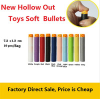 Wholesale Electric Soft Gun - New toys soft bullet gun general soft head hollow out Eva foam bullets hollow soft toys bullets Sports Toys 4141-4
