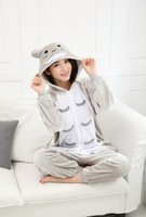 Wholesale Cheap Totoro - New Hot Sale Lovely Cheap Kigurumi Pajamas Anime Gray Totoro Cosplay Costume Unisex Adult Onesie Dress Sleepwear Halloween S M L XL