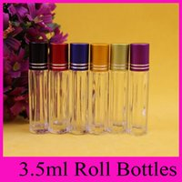 Wholesale Small Perfume Roll - 3.5ml glass ball glass beads take the ball away bead dispensing bottle roll on bottles for essential oils small perfume bottles Wholesale