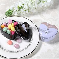 Wholesale bride wedding tin box - FREE SHIPPING+12pcs Bride and Groom Favor Tins Candy Boxes Heart Design Tin Favor Holder Wedding Favors Bridal Shower Ideas