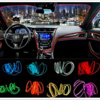 Wholesale motorcycle strip lights - 5M 10 Colors Car Styling DIY EL Cold Line Flexible Interior Decoration Moulding Trim Strips Light For Motorcycle and Cars