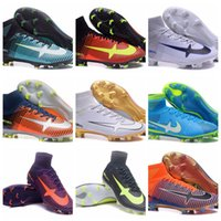 Soft Spike spring football league - Mercurial Superfly V CR7 FG Men s Firm Ground Soccer Cleats EXPLOSIVE SPEED Football Boots For European Premier League Soccer Games