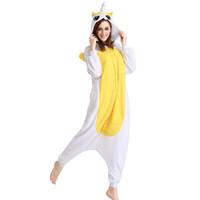 Wholesale Horse Jumpsuit - Adults Fleece Yellow Unicorn Horse Onesie Unisex Pajamas Homewear All In One Cosplay Unicorn Horse Onesies Cartoon Jumpsuit Free Shipping