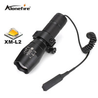Wholesale Waterproof Tactical Flashlights - G700 E17 Tactical white led hunting Pistol flash light torch CREE XM-L2 LED light zoomable led Waterproof Flashlight+scope mount+Switch