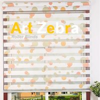 Wholesale Art zebra roller blinds for windows custom made size in color free ship